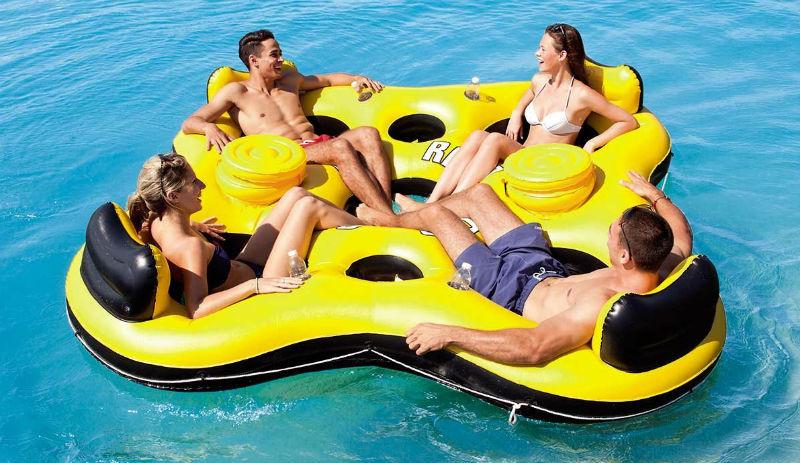 Flotador gigante para cuatro adultos comprar online