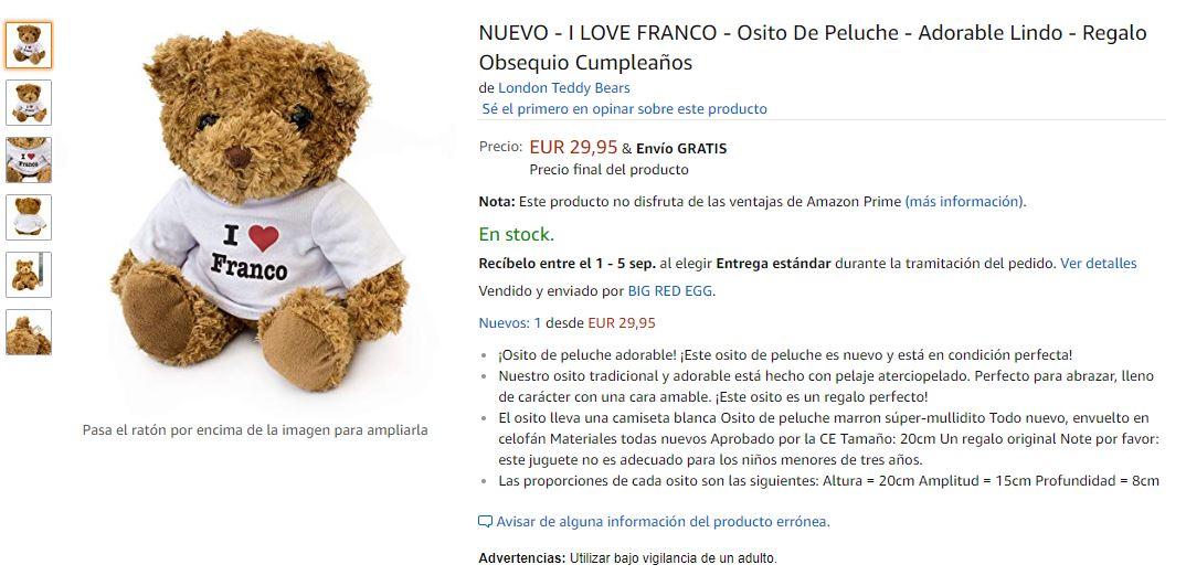 Osito I Love Franco