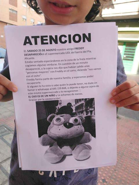 Osito de peluche secuestrado en Alicante