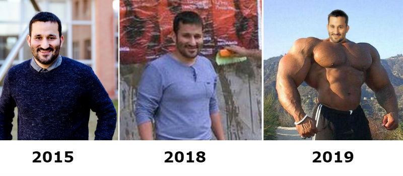Evolución física de Vicent Marzà