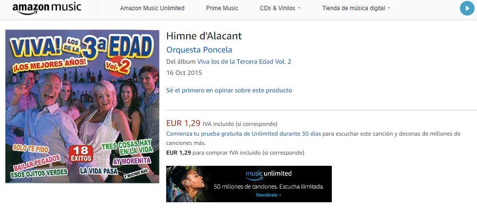 """El himno de Alicante en """"Viva! Los de la 3ª Edad Vol.2"""""""