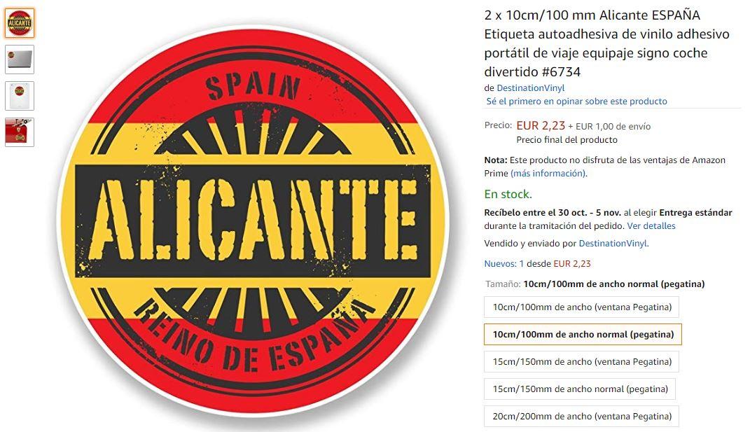 Pegatina de Alicante, Reino de España