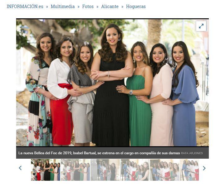 La Bellea XXL flanqueada por las infantiles. Perdón, por sus Damas. Foto: informacion.es