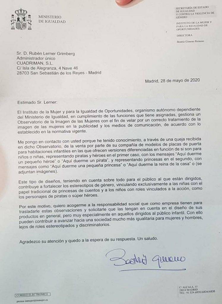 carta de Beatriz Gimeno