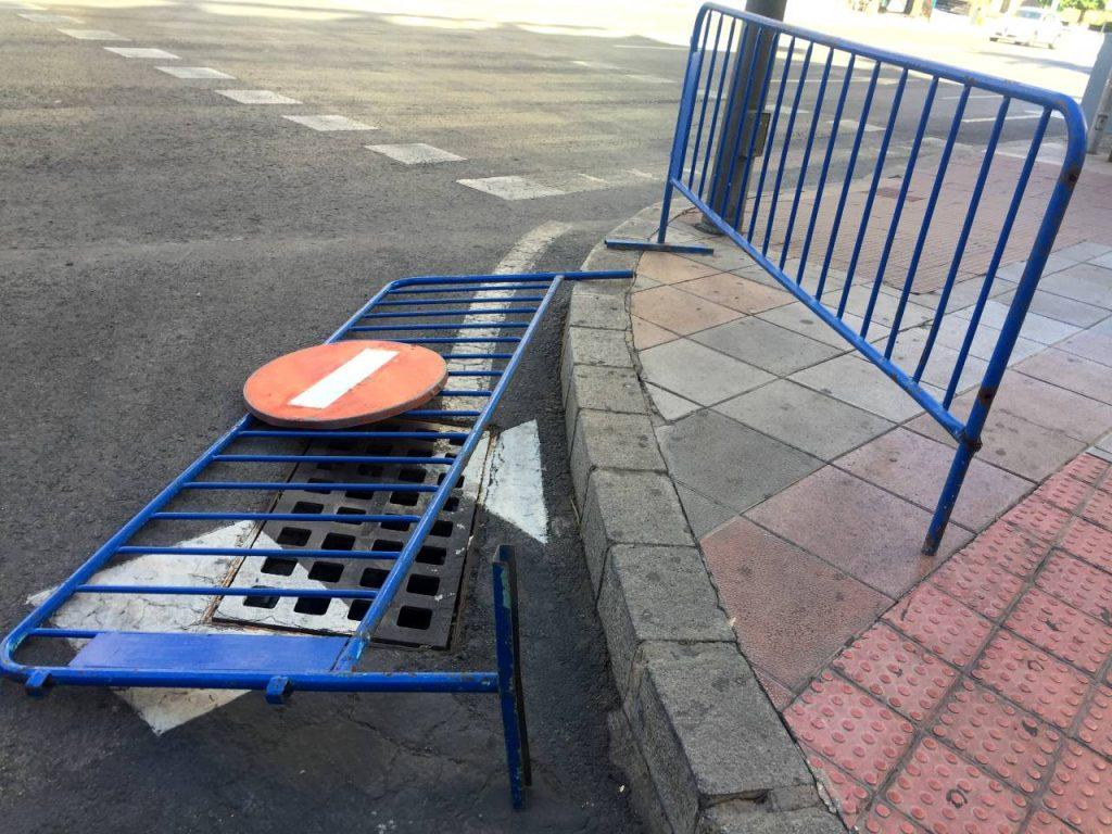 vallas peatonales en Alicante