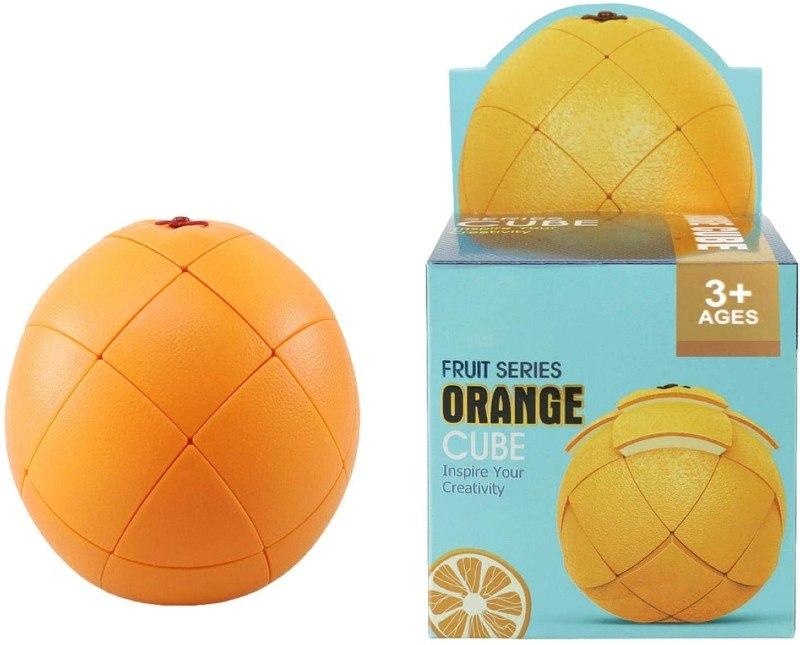 cubo de rubik con forma de naranja