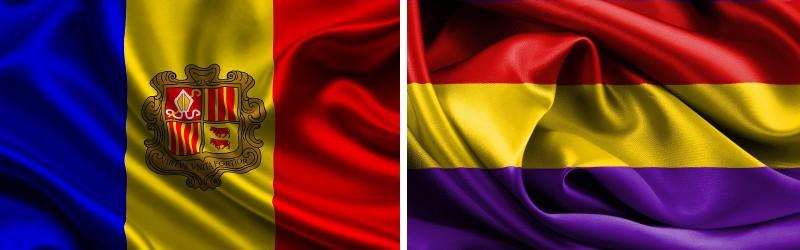 bandera de Andorra y de la República